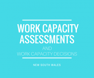 Work Capacity Decisions Assessments Walker Law Group NSW
