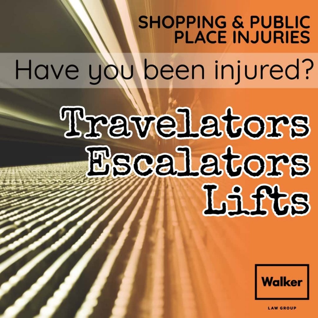 Trolley Travelator Accident Shopping Centre Claim Walker Law Group