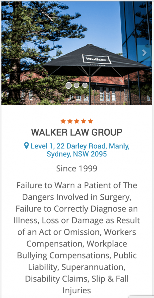 Best Personal Injury Law Firm in Sydney