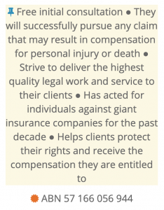 Top Personal Injury Law Firm Sydney