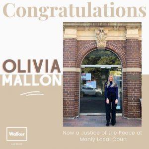 Olivia Mallon JP Manly Walker Law Group