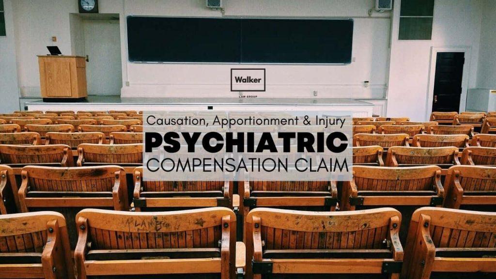 psychiatric injury compensation causation claim lawyer sydney
