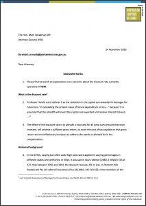 Discount Rates ALA Compensation Letter Preview
