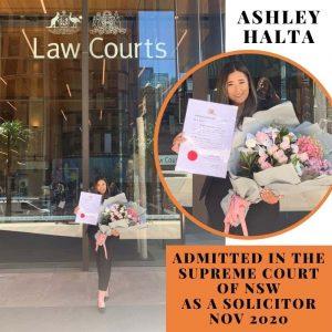 Ashley Halta Solicitor Supreme Court NSW