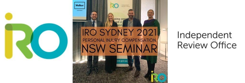 IRO Personal Injury Compensation Lawyer Seminar Sydney