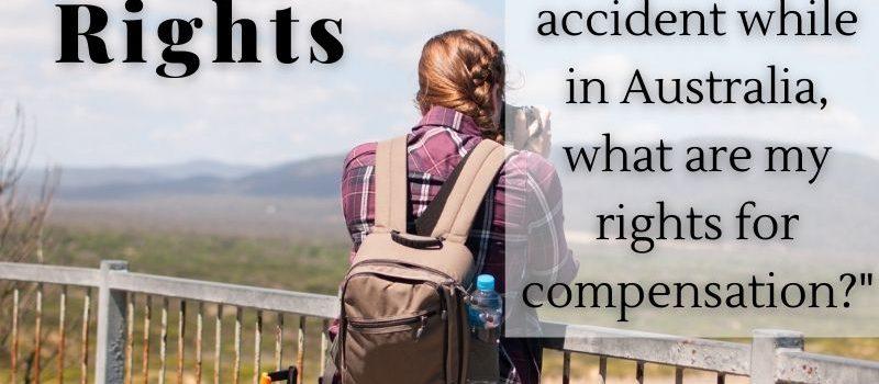International Tourist Rights Injury compensation claims sydney