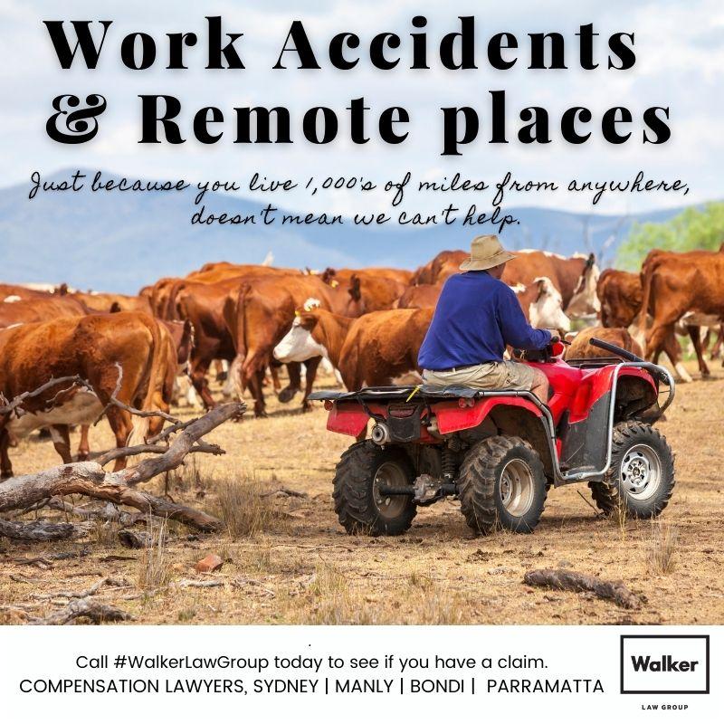 Remote places workplace injury australia lawyer
